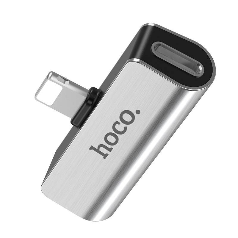 Hoco Ls25 Digital 3 5 Audio Converter For Apple Silver