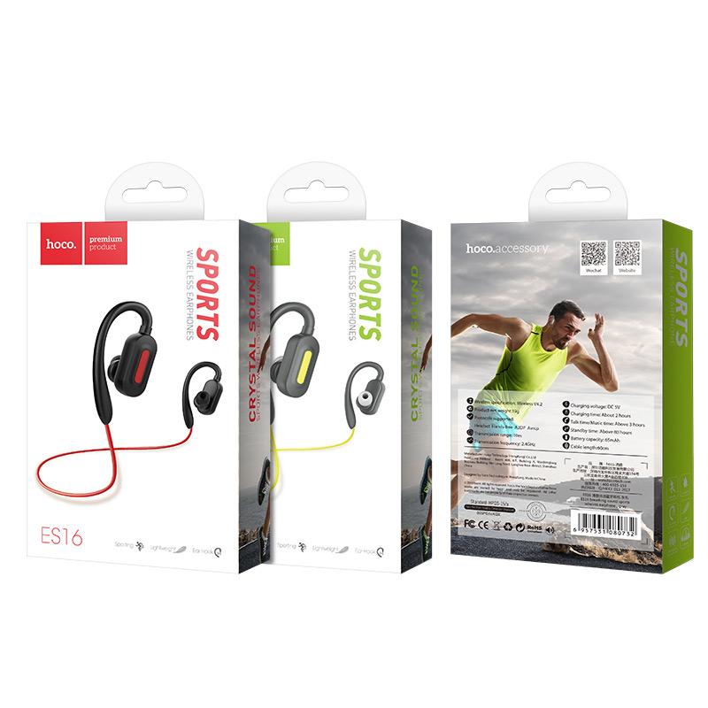 Hoco Es16 Plus Crystal Sound Sports Bluetooth Headset Gray